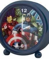 Marvel the avengers kinder wekker klokje blauw 11 5 x 12 cm trend