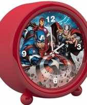 Marvel the avengers kinder wekker klokje rood 11 5 x 12 cm trend