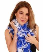 Matrozen boa wit blauw 180 cm trend