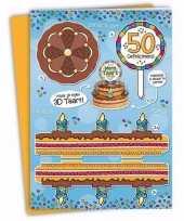 Mega 3d taart kaart abraham 50 jaar trend