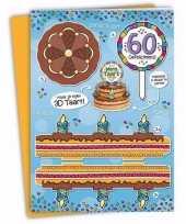 Mega 3d taart kaart abraham 60 jaar trend