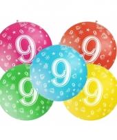 Mega ballon 9 jaar trend