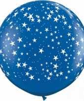 Mega ballon sterren blauw 90 cm trend