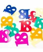 Mega confetti 18 jaar gekleurd trend