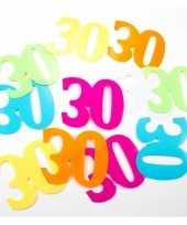 Mega confetti 30 jaar gekleurd trend