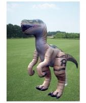 Mega realistische opblaas velociraptor 244 cm trend