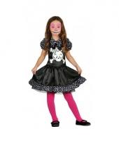 Meisjes skelet jurk met stippen trend