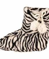 Meisjes sloffen met zebra print trend