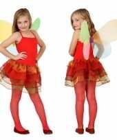 Meisjes vlinder kostuum rood trend