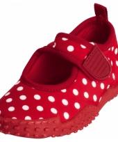 Meisjes waterschoenen rood met stippen trend