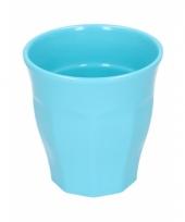 Melamine drinkbeker blauw 9 cm trend