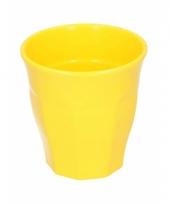 Melamine drinkbeker geel 9 cm trend