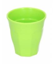 Melamine drinkbeker groen 9 cm trend
