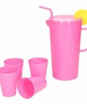 Melamine schenkkan roze 23 cm trend