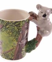 Melk beker koala op boomtak trend