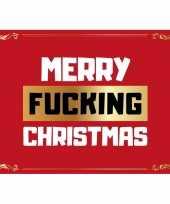 Merry fucking christmas kerstkaart ansichtkaart wenskaart trend