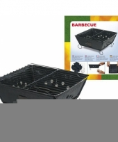 Metalen opvouwbare barbecue 24 cm trend