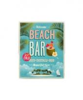 Metalen plaat beach bar trend
