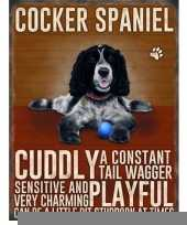 Metalen plaat cocker spaniel trend