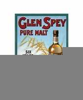Metalen plaat glen spey whiskey trend