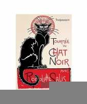 Metalen plaat le chat noir cabaret trend