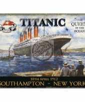 Metalen plaat met de titanic afgebeeld trend 10040209