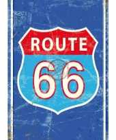 Metalen plaat route 66 trend