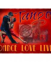 Metalen plaat tango trend