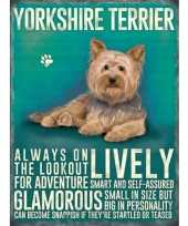 Metalen plaat yorkshireterrier trend