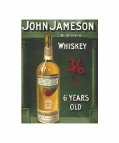 Metalen plaatje john jameson whiskey trend