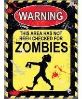 Metalen plaatje zombies voor op kantoor trend