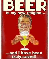Metalen platen bier nieuwe religie trend