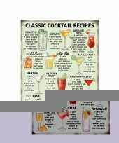 Metalen platen cocktail recipes trend