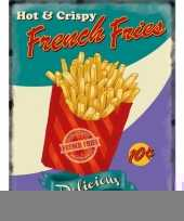 Metalen platen french fries trend