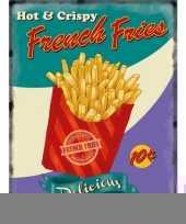 Metalen platen french fries trend