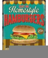 Metalen platen hamburgers trend