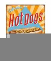 Metalen platen hot dogs trend