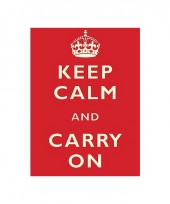Metalen platen keep calm trend
