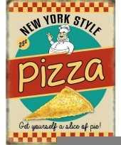 Metalen platen pizza ny style trend