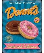 Metalen reclamebord donuts voor in de snackbar trend