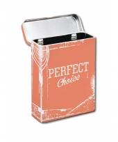 Metalen sigaretten box oranje trend