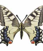 Metalen vlinder koninginnepage 25x20 cm trend