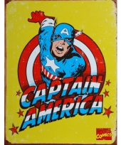 Metalen wandplaat captain america trend
