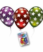 Metallic gekleurde ballonnen met sterren trend