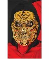 Metallic gouden horror skelet masker trend