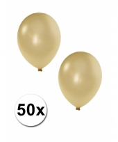 Metallic ivoor ballonnen 36 cm trend