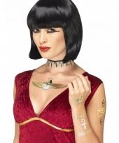 Metallic tattoos egyptisch thema 7 stuks trend