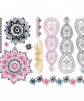 Metallic tattoos mandala trend