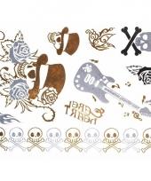 Metallic tattoos rock trend