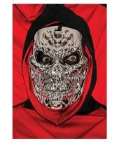 Metallic zilveren horror skelet masker trend
